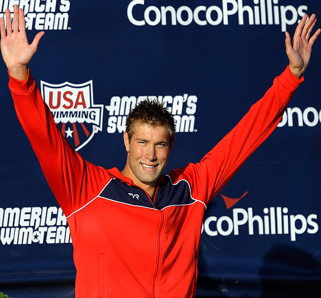 The 6-foot-8 Grevers won three medals at the 2008 Olympics but didn't qualify for this year's world championships. That made the national championships his biggest meet of the year, and he delivered by winning both backstrokes.