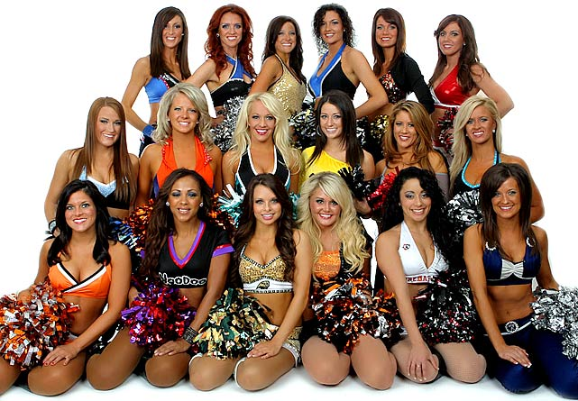 """The """"AFL Dream Team"""", composed of one dancer from each Arena Football League team voted in by the fans, performed at ArenaBowl XXIV on Aug. 12, 2011."""