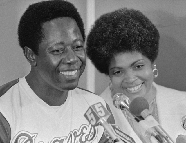 """Hammering"" Hank married Billye in 1973 as he was on the verge of breaking baseball's all-time home run record. IN 2003, the couple received the Martin Luther King, Jr. ""Salute to Greatness"" Award."