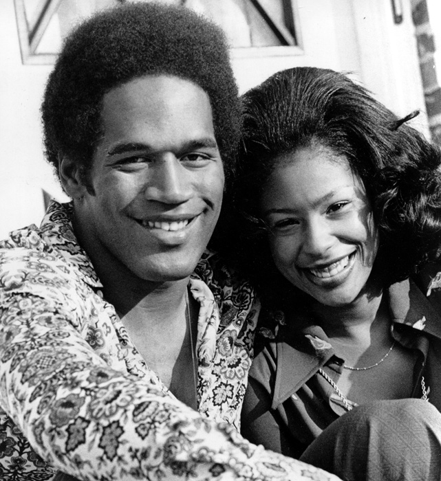 O.J. and Marguerite Simpson are all smiles during a photo shoot in Buffalo, NY. The couple married in 1967 and had three children (the youngest, Aaren, drowned in the family's swimming pool at the age of 2) before divorcing in 1979.