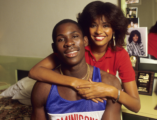Tito Horford, the first Dominican-born NBA player, poses with girlfriend, Arelis Reynoso, during a 1985 photo shoot. The family genes paid off as Al Horford is currently a center for the Atlanta Hawks and his brother, Jon, plays forward for Michigan.