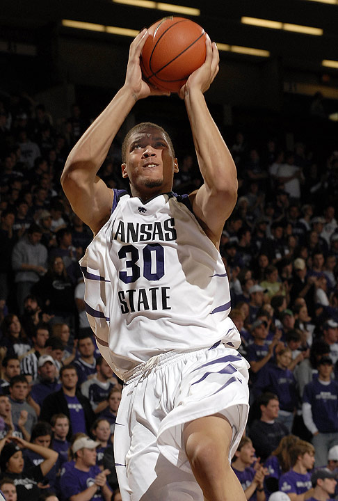 Assistant Dalonte Hill played a critical role in luring Michael Beasley to an early commitment to Charlotte. But after Hill accepted a position at Kansas State, it wasn't long before Beasley made the move as well. He decommitted on March 30, 2006, and committed to K-State on June 23 of that same year. Beasley led the country in rebounding with 12.4 per game and helped lead the Wildcats to the NCAA tournament. He was picked No. 2 overall by the Miami Heat in the 2008 draft.