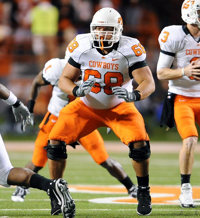 Buried on the Cowboys' depth chart two years ago, Taylor worked his way onto the first team the third week of 2009 and never relinquished the spot. He's 6-3, 327 pounds and is an Outland Trophy candidate.