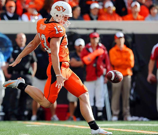 Thanks to a powerful offense, the Cowboys didn't have to punt often last season, but when they did, Sharp averaged 46.2 yards per kick, second best in the nation, and had 11 punts downed inside the 20.