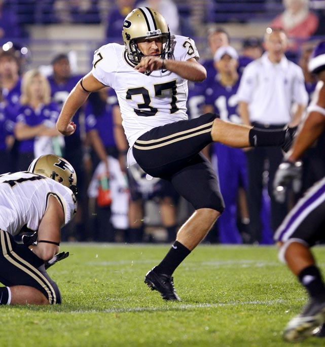 Wiggs may have the strongest leg in the country. He set a Boilermakers record in 2009 with a 59-yard field goal and owns Purdue's career field goal percentage mark (71.5 percent). In 2010 he averaged 65.2 yards on kickoffs, 11 of which resulted in touchbacks.