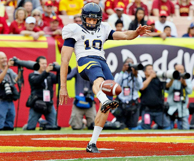 Anger's 45.6 yards per punt in 2010 broke a 23-year-old Cal record. The two-time all-conference selection has 54 career punts over 50 yards, including a 71-yarder against Stanford last year, his third over 70 yards in a Big Game.