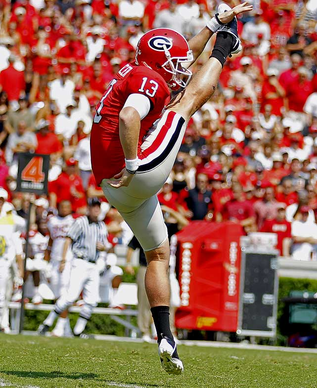 The other half of Georgia's dynamic kicking duo, Butler won the Ray Guy Award in 2009 and was a finalist last season. He has averaged 46.1 yards a kick over his career has had 35 percent of his punts downed inside the 20.