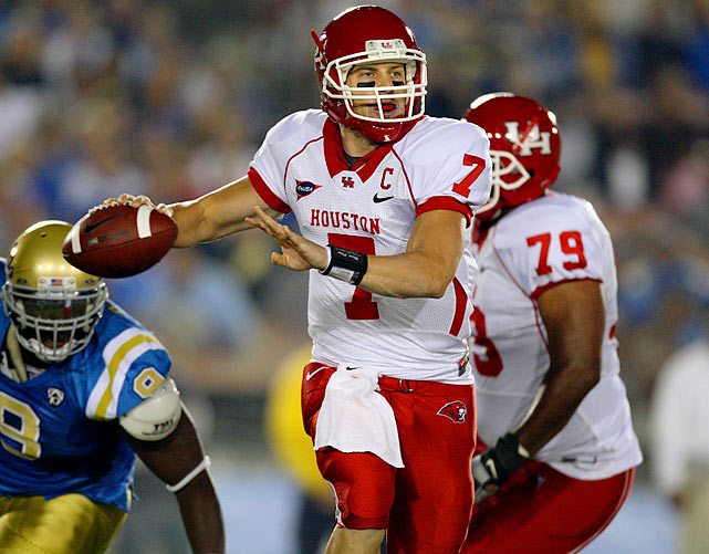 Keenum was granted a sixth year of eligibility after suffering a knee injury last September, and will make a run at breaking the all-time NCAA career passing mark this year. He's 3,486 yards shy of Timmy Chang's record of 17,072.