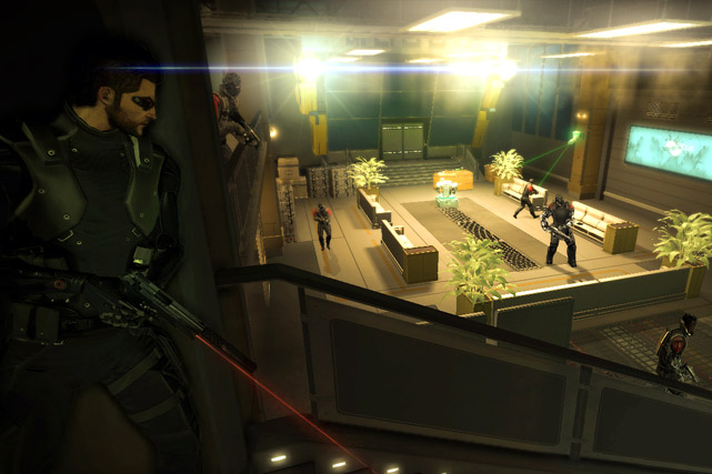 In Deus Ex: Human Revolution you play as Adam Jensen, a security specialist embroiled in a military industrial complex conspiracy set in the gloomy, but technologically fruitful year 2027. Early on, Jensen is nearly killed and his company rebuilds him with cybernetic augmentations.  As this role playing game progresses you earn points that are used to upgrade Jensen's augmentations with abilities that enhance stealth, combat and social abilities.  How you choose to upgrade your character defines how you'll play the game. If you build up stealth skills you can actually accomplish all missions without any fatalities, with the exception of scripted boss battles where heads will roll. If you want to always shoot first and ask questions later, you can do that, too. How you play, and the decisions you make along the way shape the outcome of the game and how the characters within it perceive you.  The augmentations are all pretty cool. They allow you to punch and see through walls, hack security terminals, cloak in plain sight, and to dish out some serious whooping on the bad guys. Whichever path you take with augmentation upgrades won't leave you disappointed and opens the door to replay the game.  The visuals in the game are a nice mix between Blade Runner and iRobot, combining dark, rich exteriors and sleek, shinny interiors. The voice acting is decent as well, though it pales to the sound effects and excellent musical scoring.  Score: 9 out of 10
