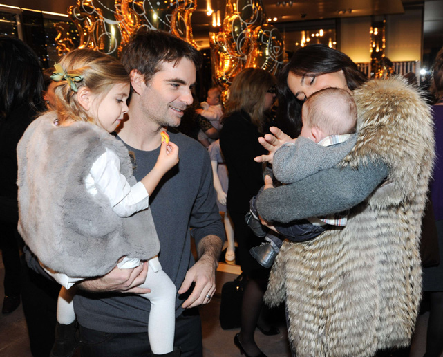 "Jeff Gordon and his wife took their children to New York to celebrate the launch of Gucci's ""Children Collection"" in 2010."