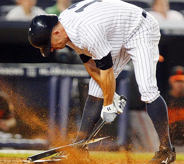 The Yankees had the tying run on base during the ninth inning against the Orioles, but lost after Brett Gardner struck out to end the game.