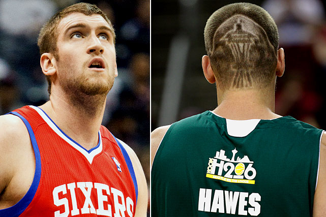 Restricted free agent and Seattle native Hawes returned to his hometown and got the Space Needle (it looks more like a tiki hut if you ask us) shaved into the back of his head. Classy.