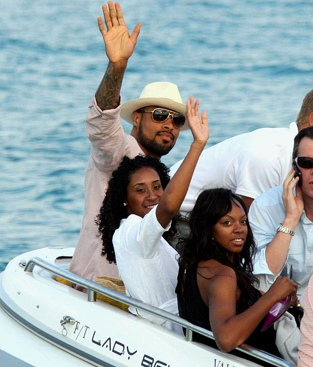 The free agent and newly crowned NBA champ went on a boat. In St. Tropez.