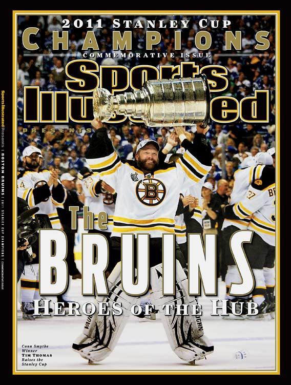 His last assignment for SI, Game 7 of the Stanley Cup finals, produced this cover photo of Tim Thomas for the Bruins commemorative.