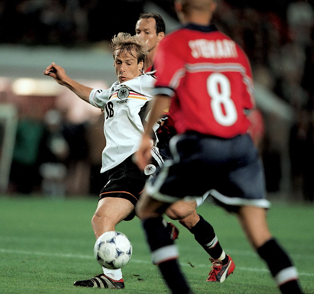 In his final World Cup, Klinsmann scored three goals as Germany fell in the quarterfinals against Croatia.