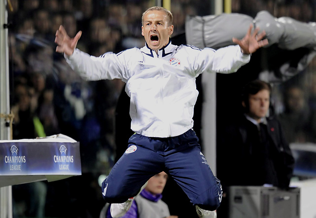 Klinsmann replaced Ottmar Hitzfeld at Bayern Munich in July 2008. Under his guidance, Bayern reached the quarterfinal of the UEFA Champions League before losing to Barcelona. He was relived of his duties in April of 2009.