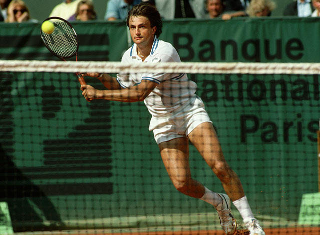 Leconte entered the tennis spotlight after winning the 1981 junior French Open. The lefthander had a breakthrough year in 1986, reaching the semifinals at Roland Garros and Wimbledon while achieving a career-high ranking of world No. 5. In 1988, he reached the final of his home French Open, but fell to Mats Wilander in straight sets. Leconte cites winning the Davis Cup with France in 1991 over the United States -- beating Pete Sampras in a crucial singles rubber -- as the highlight of his career.