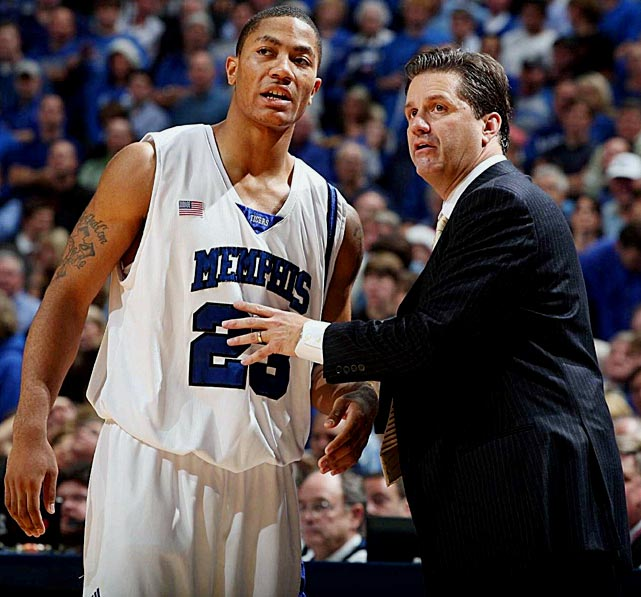 After choking away the national championship in April 2008, Memphis faithful thought their team had fallen from the national spotlight. That proved to be false, but not for the reasons Tigers' fans may have hoped.  Just months after their defeat to Kansas, reports surfaced that a player -- speculated to be Derrick Rose -- knowingly allowed someone to take his SATs and submitted false test scores. Memphis was punished, forced to vacate its wins from the previous season, but several other parties escaped the NCAA's wrath. Rose bolted for the NBA draft, and coach John Calipari left for Kentucky.