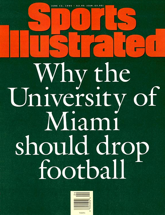 The summer of 2011 isn't the first time Miami has been in major trouble with the NCAA. In 1994, it was discovered that Tony Russell, a then-university academic advisor, assisted more than 80 athletes in falsifying Pell Grant applications to pocket federal grant money. He and players involved obtained more than $220,000 before suffering the consequences: The Hurricanes were docked 31 scholarships, immediately falling from their perch as a national football power.