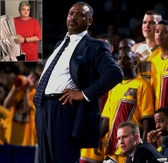 During his tenure as Minnesota head coach, Clem Haskins led the Golden Gophers to the NCAA Tournament in 1994, 1995, 1997 and 1999, even boasting a Final Four berth. Looking through the record books, none of that ever happened. Days before the team's first-round showdown with Gonzaga in 1999, it was reported that the program had allowed widespread academic fraud, with former manager Jan Gangelhoff claiming she'd written more than 400 papers for at least 20 players. The allegations proved to be true, and the NCAA struck swiftly. Minnesota was stripped of all awards, records and titles from 1993 to 1999, and lost five scholarships over the next three seasons. Haskins, AD Mark Dienhart, Vice President of Athletics McKinley Boston, assistant AD Jeff Schemmel and academic counselor Alonzo Newby all lost their jobs.