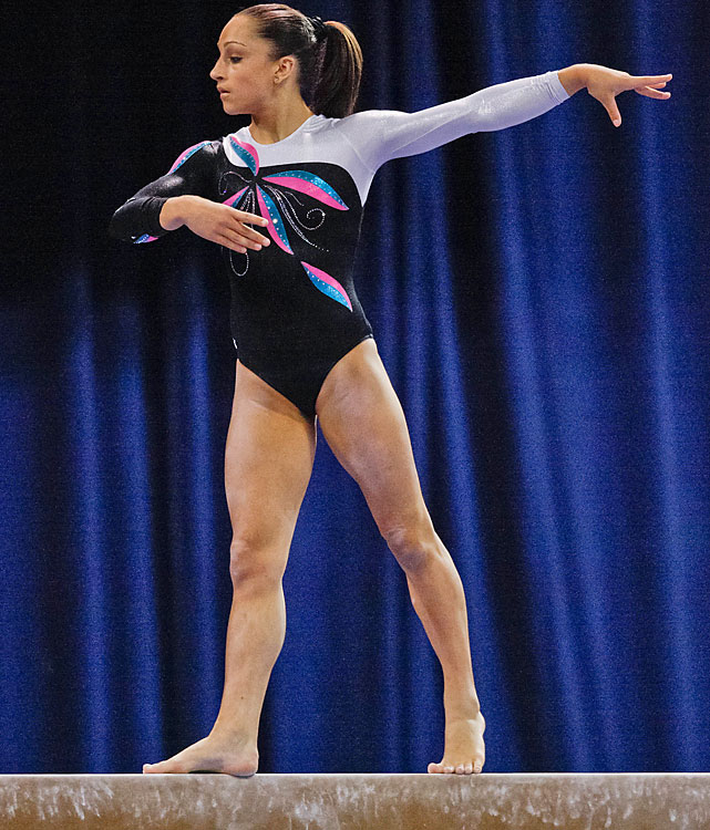 In her first year as a senior gymnast, Wieber has lived up to her massive potential. She defeated 2010 world all-around champion Aliya Mustafina at the American Cup in March and is the favorite to win the U.S. all-around title.