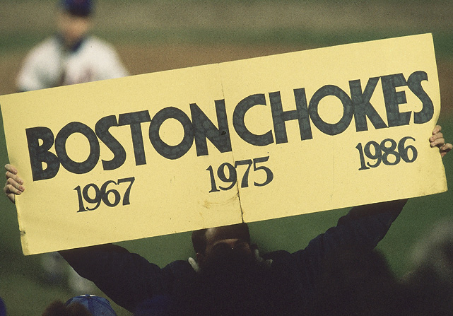 Going into Game 6, Boston fans hoped to wipe away nearly 70 years of heartbreak with a World Series victory. The fans at Shea Stadium were quick to remind the Red Sox faithful about their tortured history.
