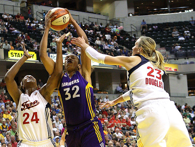On the other hand, the Indiana Fever slugged through their last few games, dropping six of nine. Despite the fact that they are the no. 1 seed in the East, they will have to face the Liberty, who came roaring into the postseason. Tamika Catchings (left) has been strong for Indiana when she's healthy, but Katie Douglas (right) can back her up if her knee acts up.