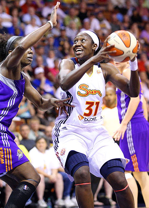 Connecticut Sun center Tina Charles led one of the youngest teams in the WNBA through the season to the playoffs. Charles leads the league in rebounds (11.0 rpg), and set a single-season record for double-doubles for the second year in a row (23).