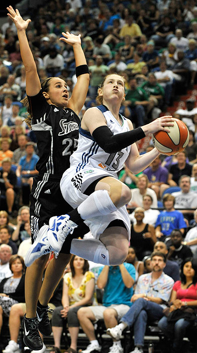 The Silver Stars' Becky Hammon (left) and the Lynx's Lindsay Whalen have both been critical to their teams' success this season; it will be an intriguing match-up to watch when their teams face off in the playoffs.