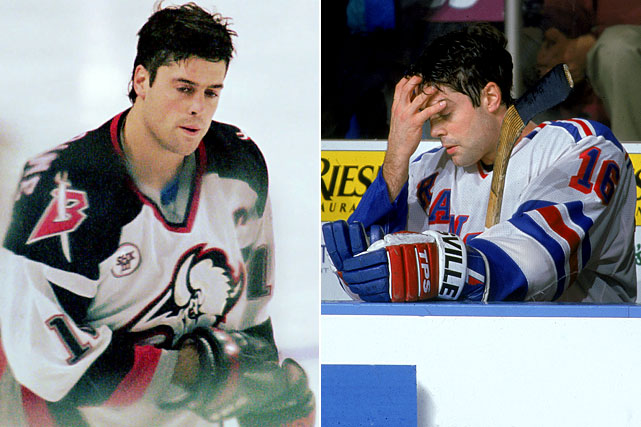 "The Hockey Hall of Fame center suffered concussions that shortened his career. One, in 1996, left him debilitated. ""I would walk into a room, and he would be crying,"" LaFontaine's wife Marybeth told SI in 1997. ""He cried a lot. Or he would be holding his head from the migraine headaches. They were terrible. He wouldn't leave the house for a week. He wouldn't change his clothes, wouldn't shower. It was all the classic signs of depression. I thought he was having a nervous breakdown."" LaFontaine was sent to the Mayo Clinic, which discovered a bruise on his brain's frontal lobe. He returned to play with the New York Rangers in 1997, but retired after the season."