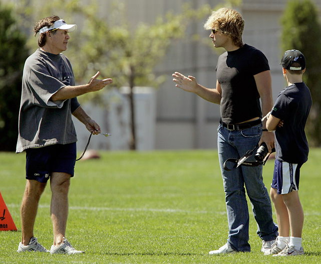 While many feel Belichick is consumed by football, he does have a few famous friends, including rock star Jon Bon Jovi (and his son, Jesse).