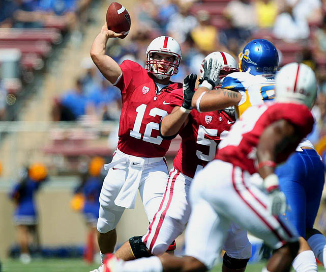 Last week:  17-of-26 passing for 171 yards, two TDs; two rushes for nine yards and a TD in 57-3 win over San Jose State.  By his own standards, Luck wasn't sensational. His longest completion was 17 yards -- the lowest of his 26 career games -- and you have to go back to Week 2 of last season to find the last time he threw for fewer yards. But he didn't exactly hurt his chances or his standing as the frontrunner. After losing his top two receivers from a year ago, Luck distributed the ball effectively, hitting seven of his first 10 passes to seven different receivers. Plus, he put that often-discussed moxie on display, diving head-first to reach the pylon on a 1-yard TD run.   Next up:  Saturday at Duke