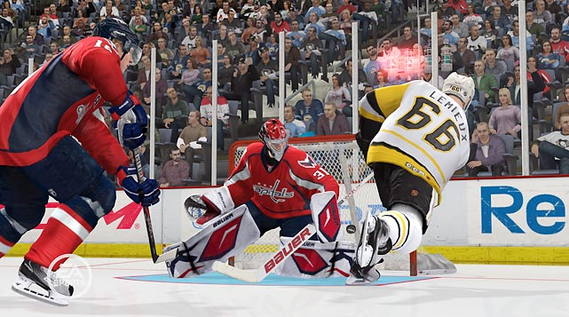 Hockey may not be as popular as the other three professional sports, but EA's video game version of the fast-paced game just keeps getting better. In a nod to the success of NBA 2K11's inclusion of Michael Jordan in its game, NHL 12 mines hockey's golden age for the entertaining Be A Legend mode. Unlock players like Mario Lemieux, Wayne Gretzky and Gordie Howe, then try to set their all-time career marks. You can also set up face-offs between the legends and modern day players to see who comes out on top.  Changes to the action on the ice only improve on what is EA's smoothest playing title. The Full Contact Physics engine includes new animations like shattered glass along the boards and players flipping into bench areas. Dynamic Goalies amp up the action in front of the crease, where you can distract the netminders and knock the goals off their posts.   The new Full Balance Control also puts more weight into a player's size. The big guys can handle glancing blows from smaller guys on drives towards the goal, while the little guys have much less margin for error before they're sent skidding into the corner on their backsides. Overall, this is one of the deepest and best-looking sports titles of the year.     Game Room Video Review: NHL 12     Score: 9 out of 10