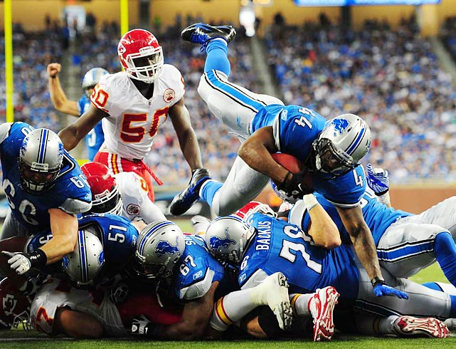 Javid Best scores to put an exclamation point on the Lions' 48-3 victory over the Chiefs.