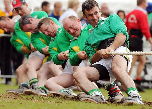 This Irish tug-of-war team gave a new meaning to beer muscles with a win in the 680KG European Outdoor Tug of War Championships in England.