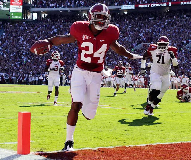 Alabama cornerback DeQuan Menzie's pick-six helped the Tide to a 38-14 win in a game in which Arkansas was held to 17 total rushing yards.