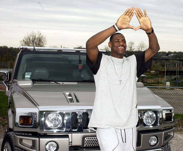 The shiny Hummer H2 that LeBron received from his mother for his 18th birthday became the focal point of a statewide investigation into his eligibility and whether he received improper benefits.