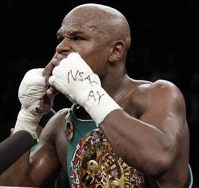 Mayweather made a minimum of $25 million for his first fight in 16 months, a sum that will likely go up as the pay-per-view receipts are totaled. He could make even more against Manny Pacquiao next May should Pacquiao win his November fight with Juan Manuel Marquez and the two finally agree to fight.