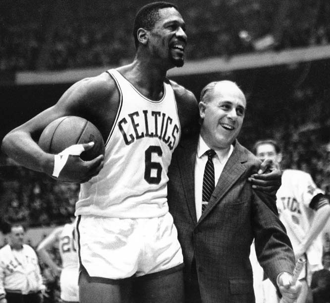 Boston rode John Havlicek's famous steal to get to the NBA Finals and then beat the Lakers 4-1 for the title. Havlicek and Bill Russell led Boston to a 62-18 record, 13 games better than anybody else in the nine-team NBA.