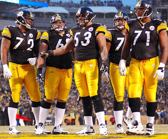 The Steelers have won with a patchwork offensive line over the last few years, but eventually that has to catch up to them. Eight different linemen started for the team in 2010, and that can't happen again. But injuries already have the line in flux this season, a bad sign that could derail an otherwise stout team.