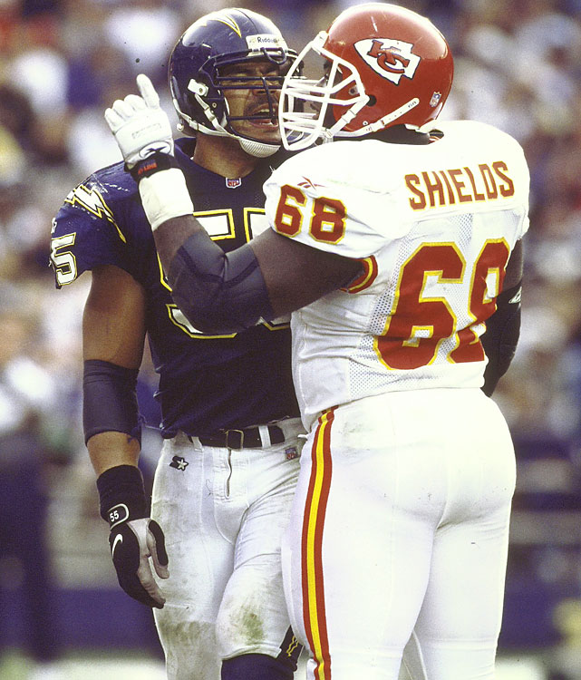 If any player from this group is enshrined in their first year, it ought to be Shields. He was a nine-time All-Pro, made 12 straight Pro Bowls and was named to the All-Decade team of the 2000s despite not playing the final three seasons. Shields didn't start his first game, but after that made 231 straight starts (including playoffs) to finish his career. He blocked for Joe Montana, Marcus Allen, Priest Holmes and Larry Johnson. Only Bruce Matthews has more Pro Bowl appearances for an offensive lineman with 14.