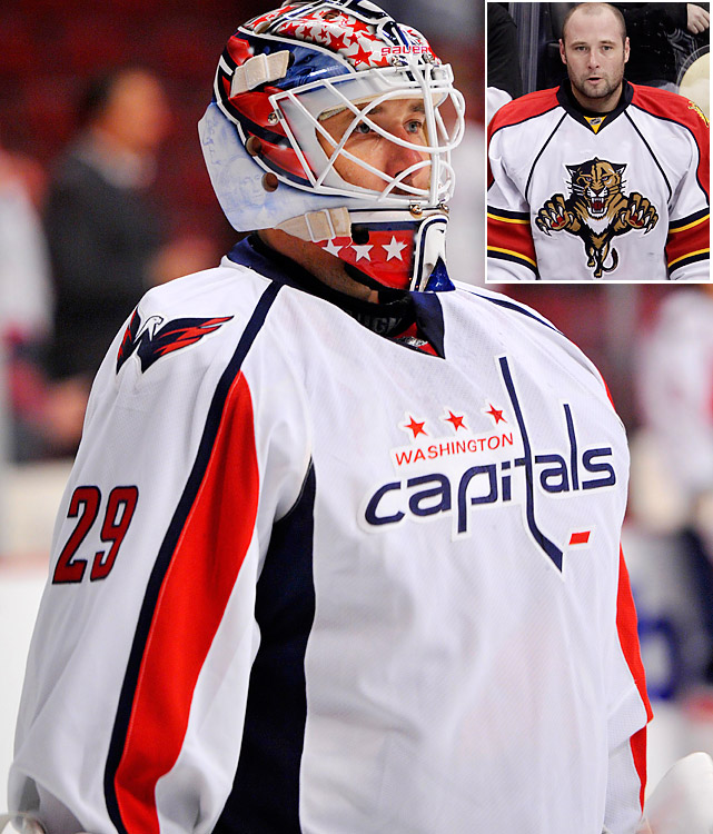 "Still seeking a Stanley Cup-caliber netminder, the Caps invested one year and $1.5 million in the 35-year-old veteran, who's spent the last four years of his 12-season NHL career laboring to make the woeful Florida Panthers respectable. Vokoun is expected to start while competing with youngsters Michal Neuvirth and Braden Holtby. ""We're always going to play who we think is the best,"" coach Bruce Boudreau told the  Washington Post . ""But if you've got to give Vokoun the respect that he's coming in and he's going to be the number one guy. We'll see where it goes from there."""
