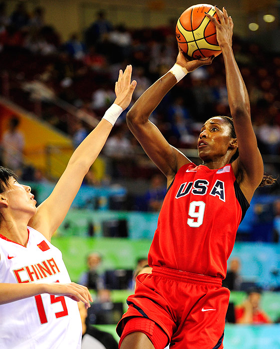 Lisa Leslie has been a mainstay on the U.S. women's national basketball team since 1996. She has won four Olympic gold medals ('96, '00, '04, '08) and two world championships ('98, '02). Leslie is one of two members of USA Basketball with four gold medals, the other being Teresa Edwards.