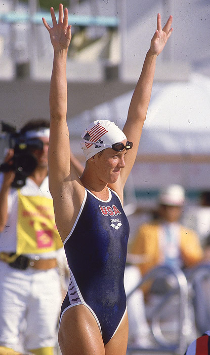 In the early 1980s, Tracy Caulkins dominated the international swimming scene in all four strokes. She won Olympic gold at the 1984 Games in the 200- and 400-meter individual medleys. She also contributed to the 400-meter medley relay team, which came in first.