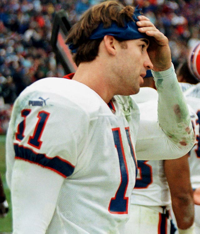 Steve Christie hit a 51-yard field goal to give Buffalo a 16-15 lead with 16 seconds remaining in an January 2000 AFC wild-card game. The Bills squibbed the ensuing kickoff and Tennessee's Lorenzo Neal picked it up and handed it to Frank Wycheck. The Tennessee tight end then lateraled the ball to Kevin Dyson on the other side of the field. Dyson dashed down the sideline for the game-winning touchdown.