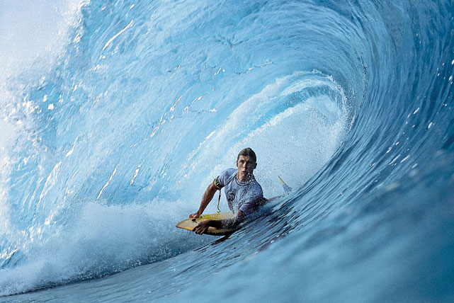 Spencer Skipper savors a perfect -- albeit ephemeral -- tube during the Mike Stewart International Pipeline Pro Bodyboarding competition at Oahu's Pipeline. This shot appeared in the Leading Off section of the Feb. 25, 2002 issue.