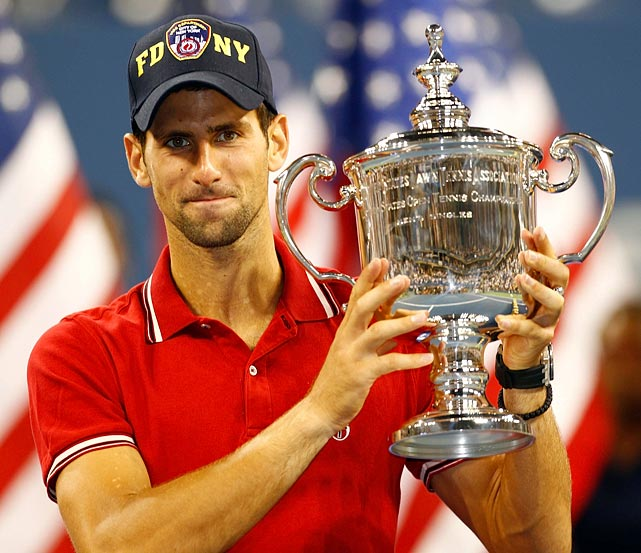 "In a tribute to Sept. 11, Djokovic walked out on the court wearing an ""FDNY"" hat and put it back on during the trophy presentation."