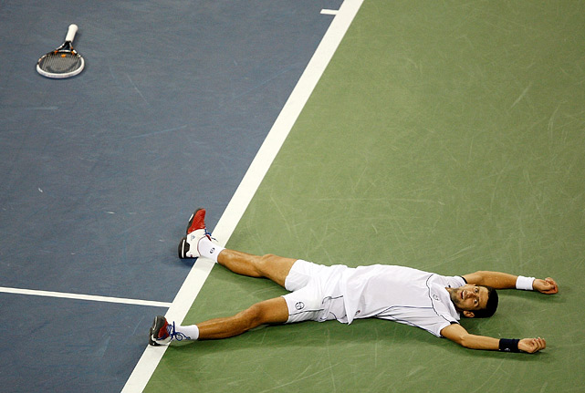 Novak Djokovic defeated Rafael Nadal 6-2, 6-4, 6-7 (3), 6-1 to win his first U.S. Open title and third Grand Slam event of the year.