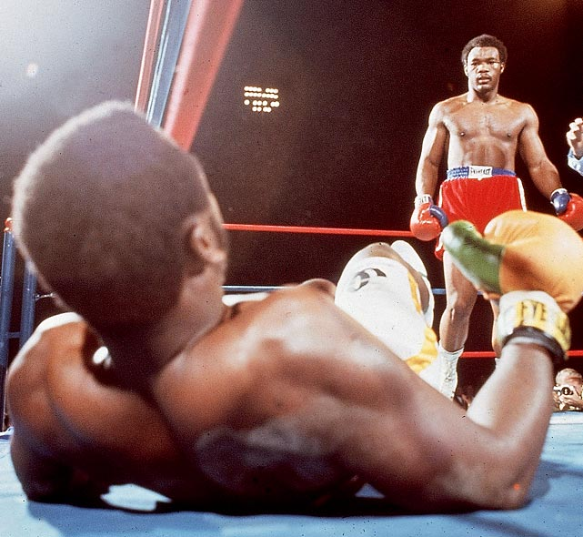 "This second-round TKO was accompanied by arguably the most famous call in boxing history. ""Down goes Frazier!"""