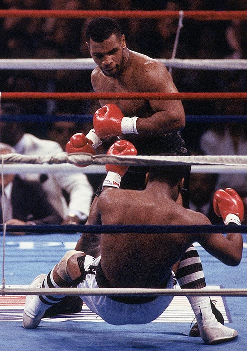 Spinks had never been knocked to the canvas in his career, but it only took Tyson a minute and a half to separate Spinks from his senses.